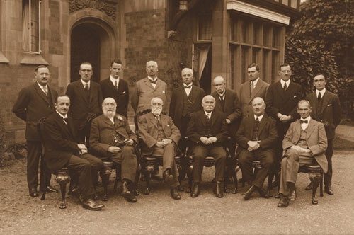 The board of Directors and Officers. Sitting 3rd from left (front) is Thomas Mason Daffern, the Society's founder and first Secretary.
