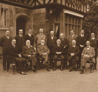 The board of Directors and Officers. Sitting 3rd from the left is Thomas Mason Daffern, the Society's founder and first Secretary.