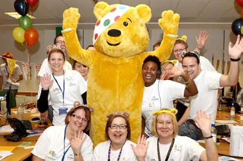 Children in Need night at the Customer Service Centre.