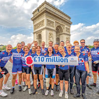 A team of 23 Society staff cycled from London to Paris to support The Royal British Legion.