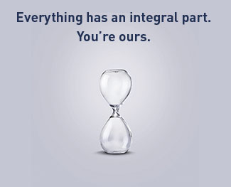 Everything has an intergral part. You're ours.