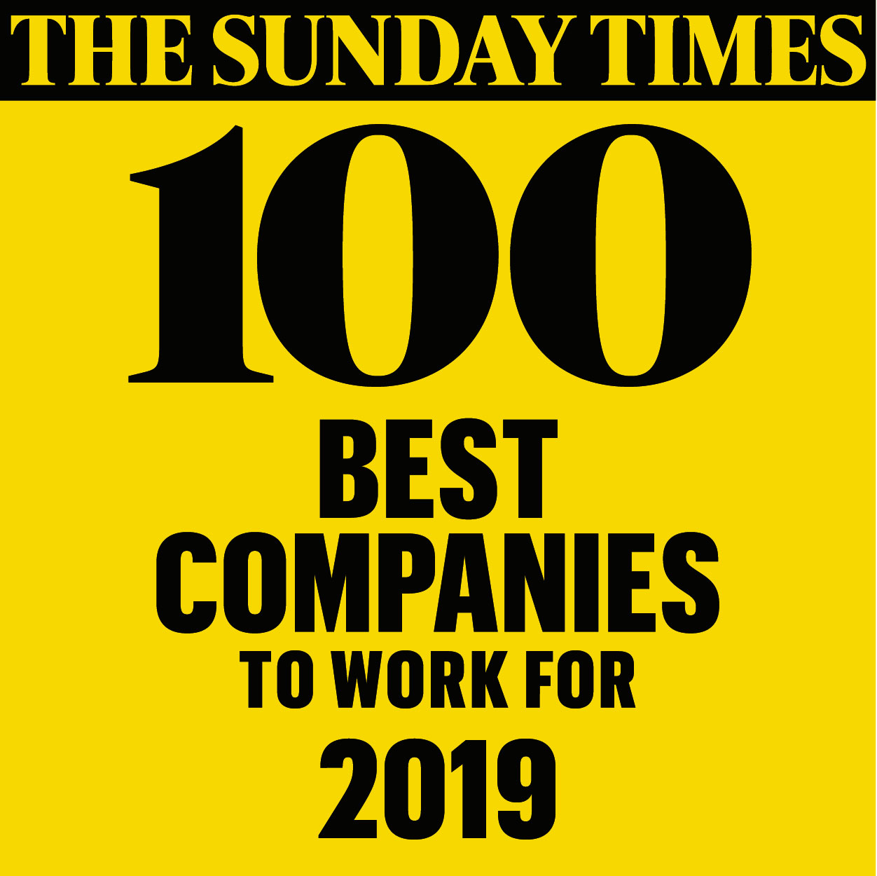 47th Best Company to Work For (mid-sized companies) The Sunday Times