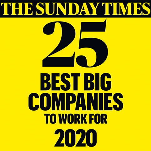The Sunday Times 25 Best Big Companies to work for